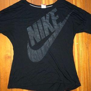 black nike long sleeve shirt, worn lightly